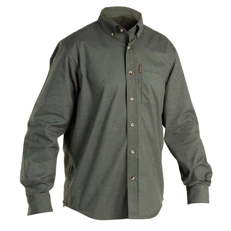 Одежда на сухую погоду Мужская летняя одежда - РУБАШКА ДЛЯ ОХОТЫ 100 SOLOGNAC - Мужская летняя одежда