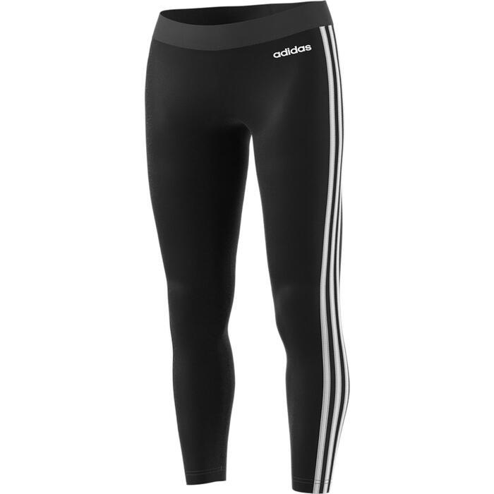 Legging Adidas 3S 500 Pilates Gym douce femme noir/blanc