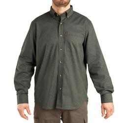 Overhemd met lange mouwen voor de jacht 100 groen