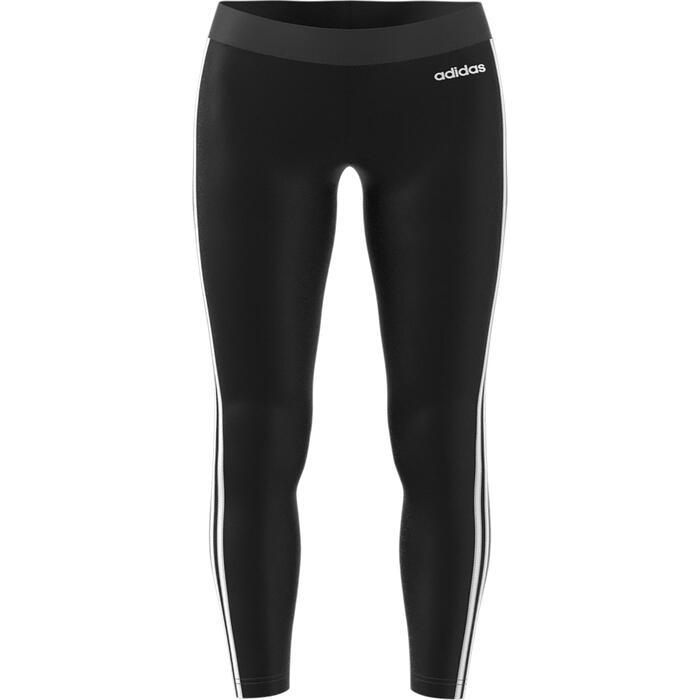 Leggings mit 3 Streifen Slim Damen schwarz/weiß