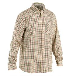 Overhemd voor de jacht Hanaj beige geruit