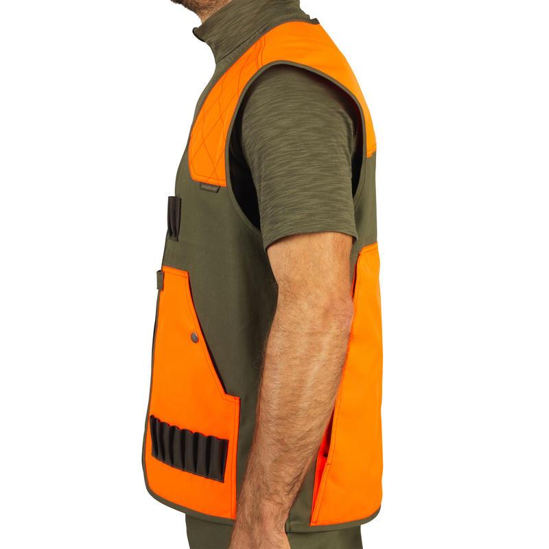 Gilet chasse léger 100 fluo/vert