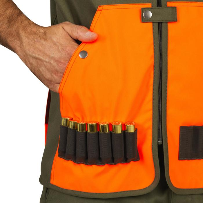 Gilet chasse léger 100 fluo/vert