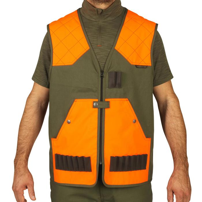 Licht jagersvest 100 fluo/groen