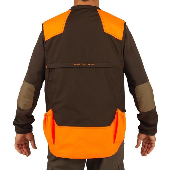 Chaleco Caza Solognac Reforzado 500 Naranja-Marrón