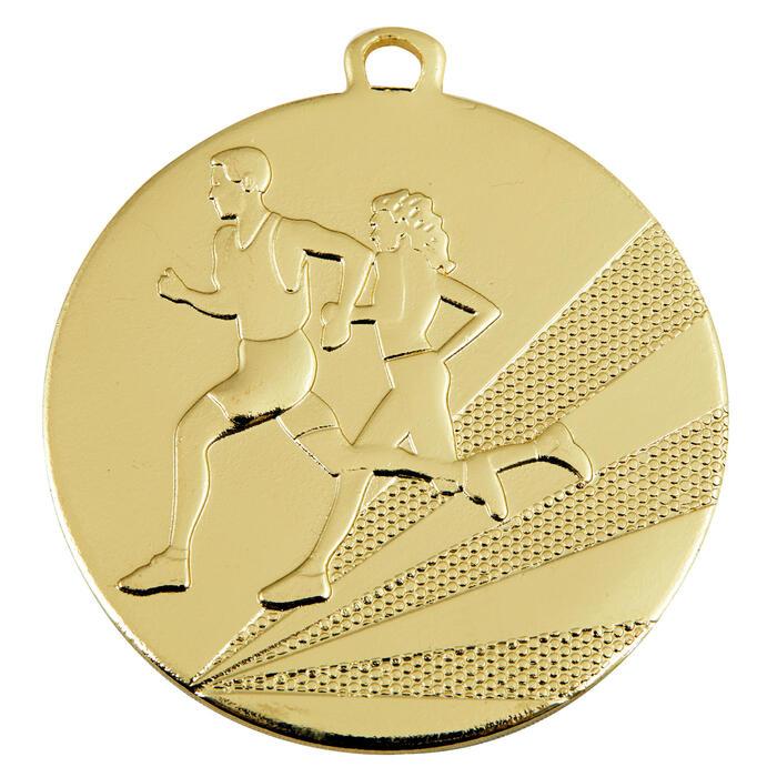Medaille hardlopen 50 mm goud