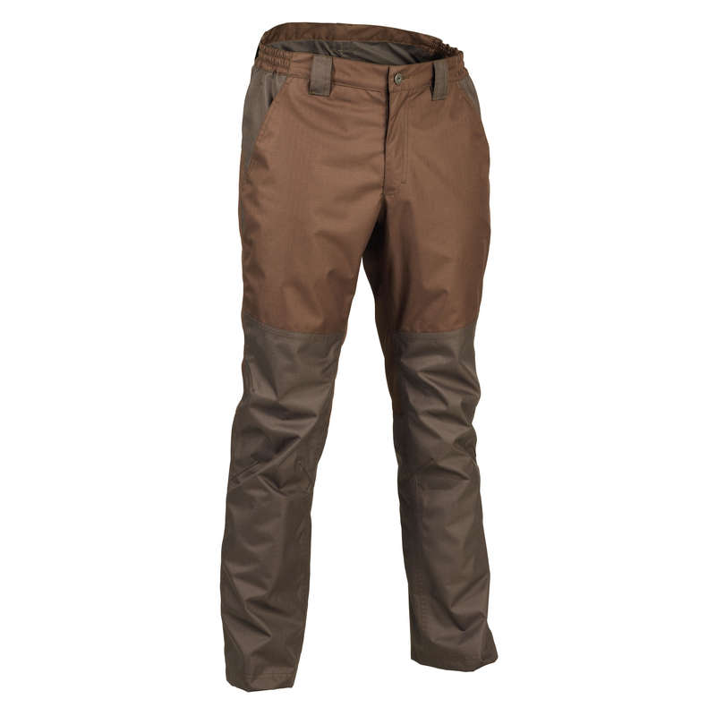 WATERPROOF CLOTHING Shooting and Hunting - W / P TROUSERS 500 BROWN SOLOGNAC - Hunting and Shooting Clothing
