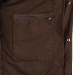 Veste Chasse Imperméable Renfort 520 fluo/marron