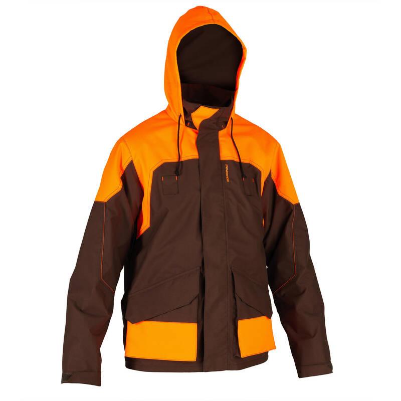 ZPEVNĚNÉ OBLEČENÍ NA LOV DO DEŠTĚ Myslivost a lovectví - NEPROMOKAVÁ BUNDA RENFORT 520  SOLOGNAC - Myslivecké oblečení