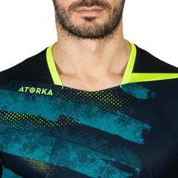 Handbalshirt heren H500 marineblauw / geel