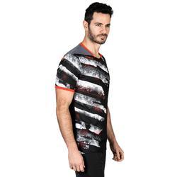 Camiseta de balonmano hombre H500 negro / blanco / rojo