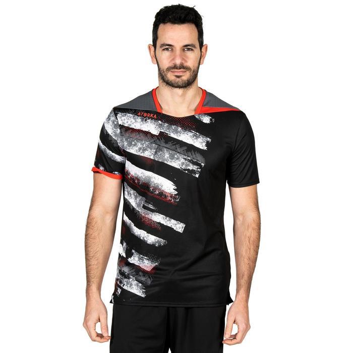 Handbalshirt voor heren H500 zwart / wit / rood