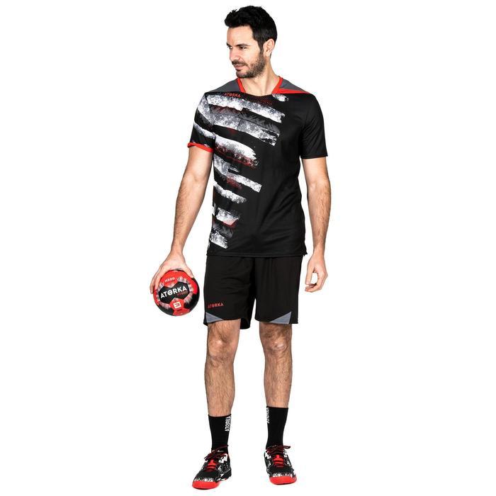 Camiseta de Balonmano Atorka H500 Hombre Negro Blanco Rojo