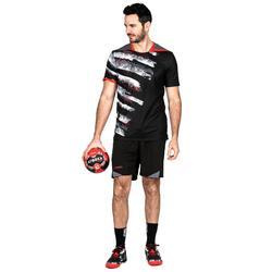 Handballtrikot H500 Herren schwarz/weiß/rot