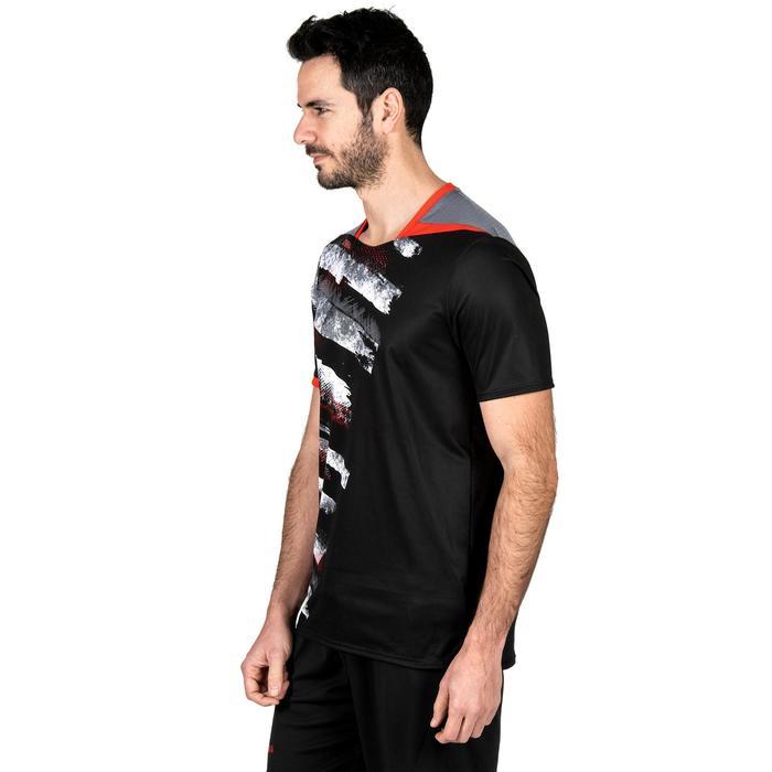 Handbalshirt heren H500 zwart/wit/rood