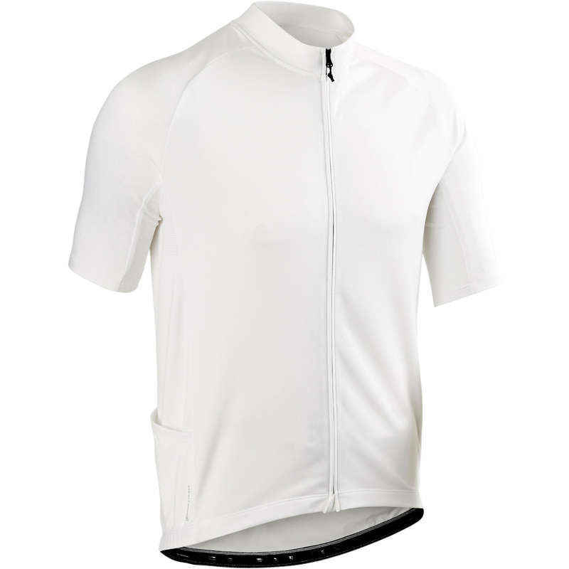 MEN WARM WEATHER ROAD CYCLING APPAREL Cycling - RC 100 Short Sleeve Cycling Jersey - White TRIBAN - Cycling