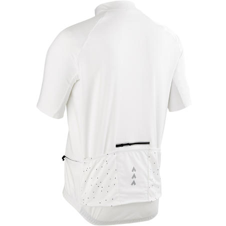 RC100 Short-Sleeved Warm Weather Road Cycling and Touring Jersey - White