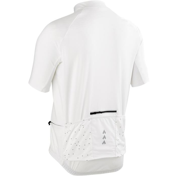 MAILLOT MANCHES COURTES TPS CHAUD VELO ROUTE HOMME CYCLOTOURISME RC100 BLANC