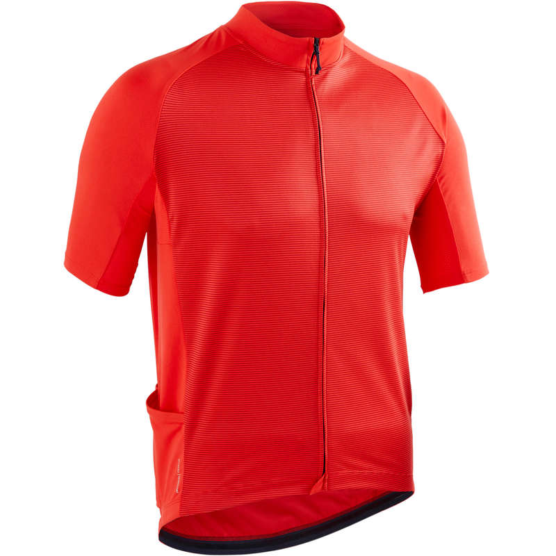 ÎMBRĂCĂMINTE CICLISM ȘOSEA VREME CALDĂ BĂRBAȚI Imbracaminte - Tricou ciclism RC100 Bărbați  TRIBAN - Imbracaminte