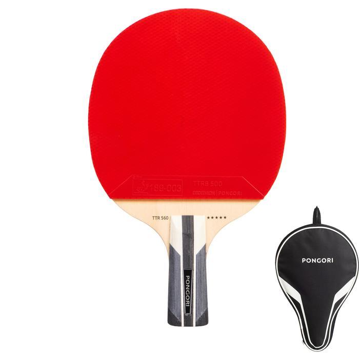 乒乓球拍+球拍套TTR 560 5* Speed C-Pen