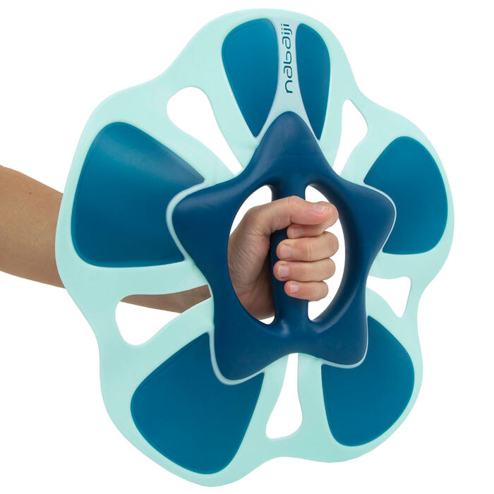 Hantel Muskelkräftigung Pullpush Flower Aquagym Aquafitness blau