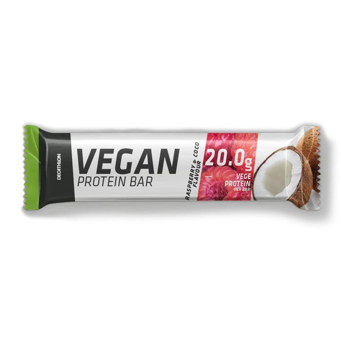 Vegan eiwitreep frambozen/kokos