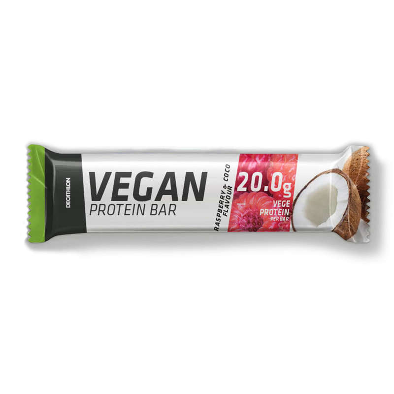 PROTEINS AND SUPPLEMENTS Boxing - Vegan Protein Bar Raspberry DOMYOS - Boxing Nutrition