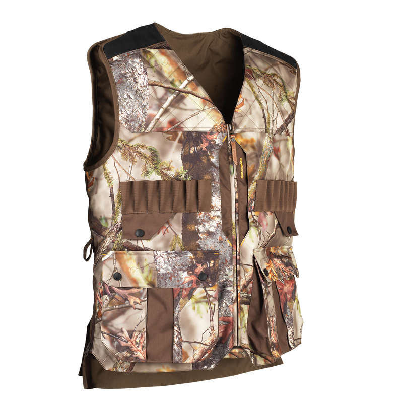 MIGRATORY BIRD HUNT EQUIPMENT Shooting and Hunting - GILET 500 CAMOUFLAGE SOLOGNAC - Hunting and Shooting Clothing