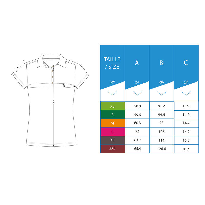 WHITE WOMEN'S SHORT-SLEEVED MILD WEATHER GOLFING POLO