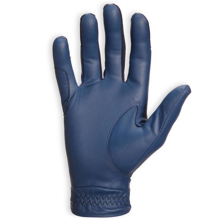 Guantes Equitación Fouganza 560 Mujer Azul Marino/ Azul