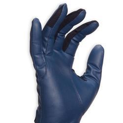 Gants équitation femme 560 marine et bleu