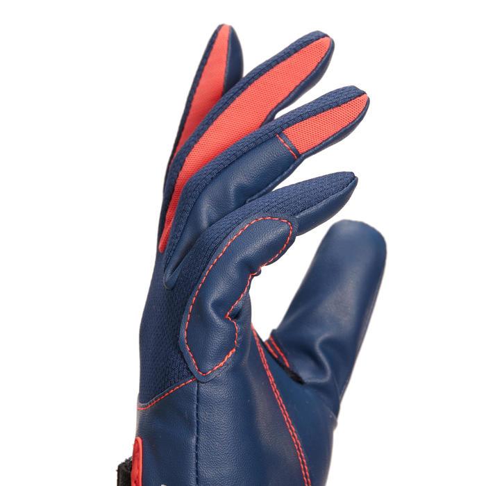 兒童款馬術手套560-海軍藍/粉紅色