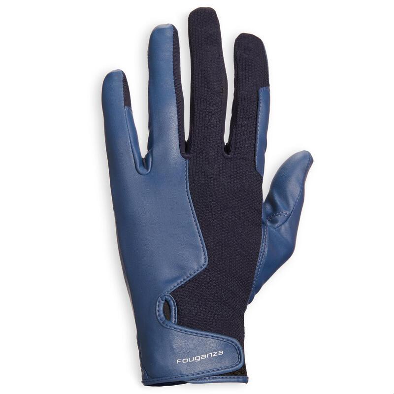 Rijhandschoenen 560 dames marineblauw en blauw