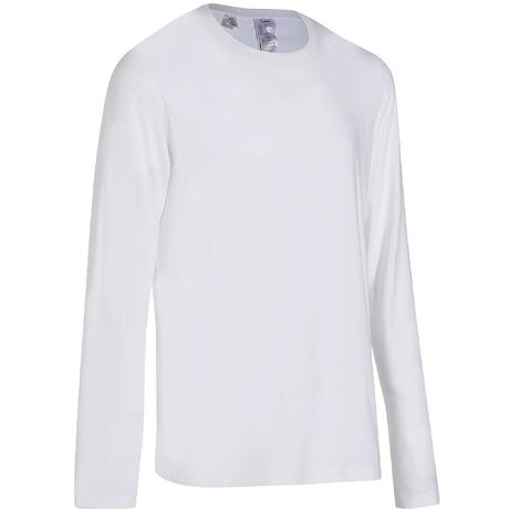 dc58c060f9a3 100 Regular-Fit Long-Sleeved Pilates & Gentle Gym T-Shirt - White | Domyos  by Decathlon
