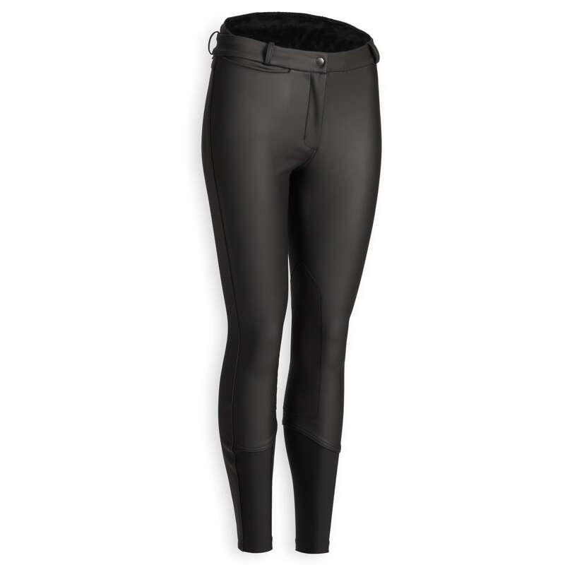 Îmbrăcăminte echitație damă vreme rece Imbracaminte - Pantalon călduros echitație  FOUGANZA - Pantaloni