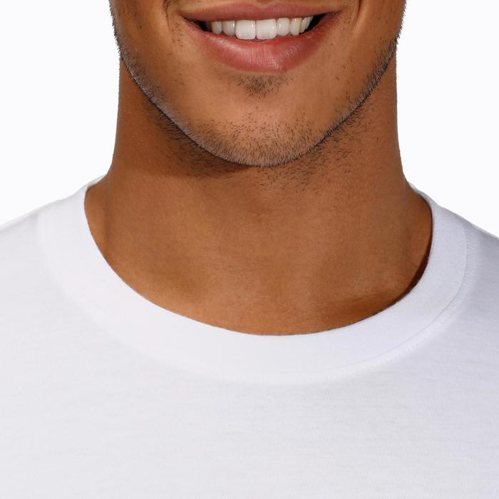 T-Shirt homme 100 manches longues blanc