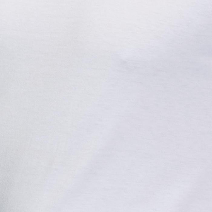 Shirt met lange mouwen voor pilates/lichte gym heren 100 regular fit wit