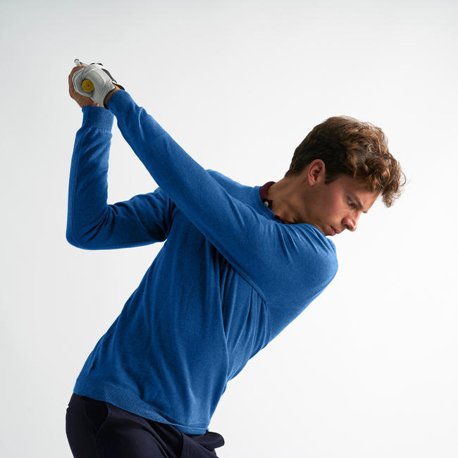 Men's Golf Pullover - Blue Marl