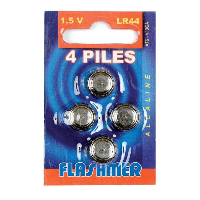 FLOTTEURS/LIGNES MONTEES PECHE EN MER PILE ALCALINE LR44 1.5V X4
