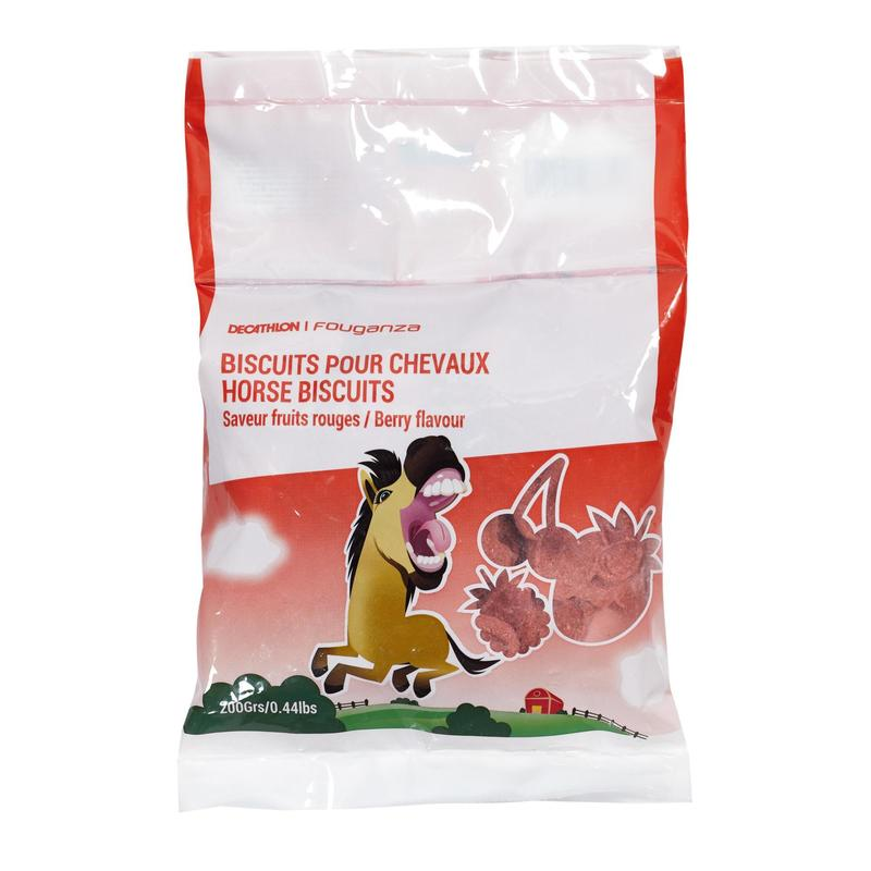 Fougacrunch Horse Riding Biscuits For Horse/Pony 200g - Red Berries