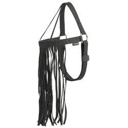 Frontalera equitación antimoscas caballo negro