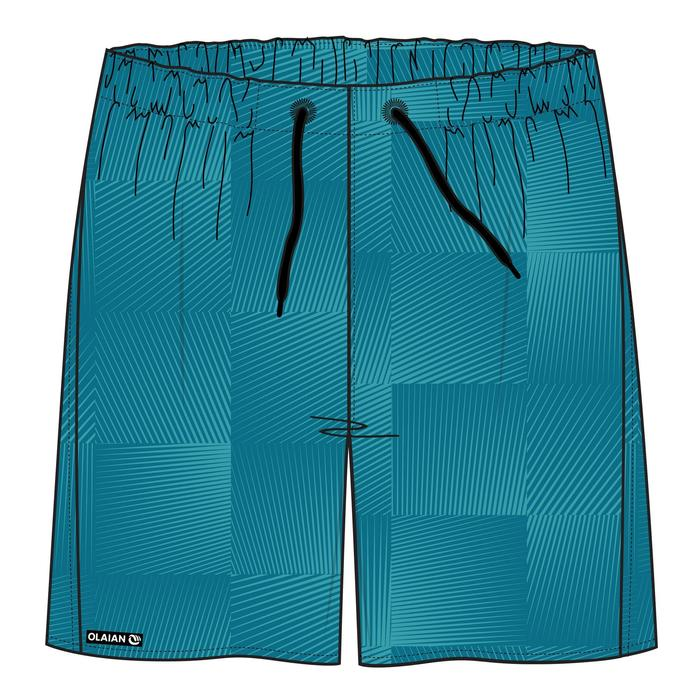 Surf boardshort court 100 Square Blue