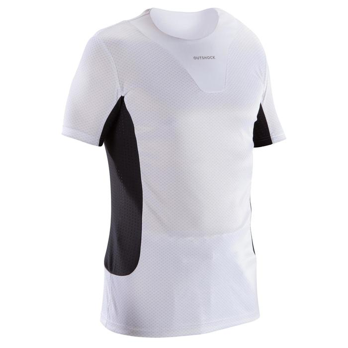 Camiseta adulto interior Judo blanco y negro