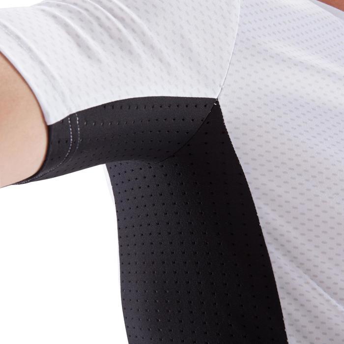 T-shirt onderkleding judo voor volwassenen wit en zwart