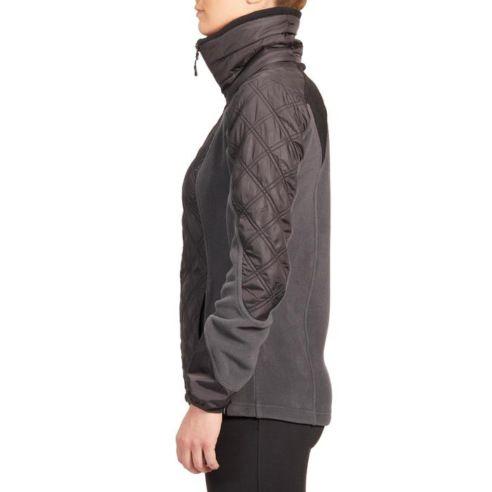 Fleecejacke 500 Warm Damen grau