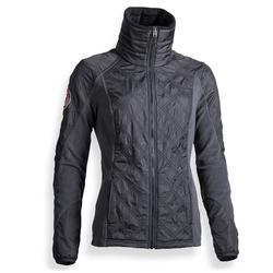 Damesfleece ruitersport 500 Warm grijs
