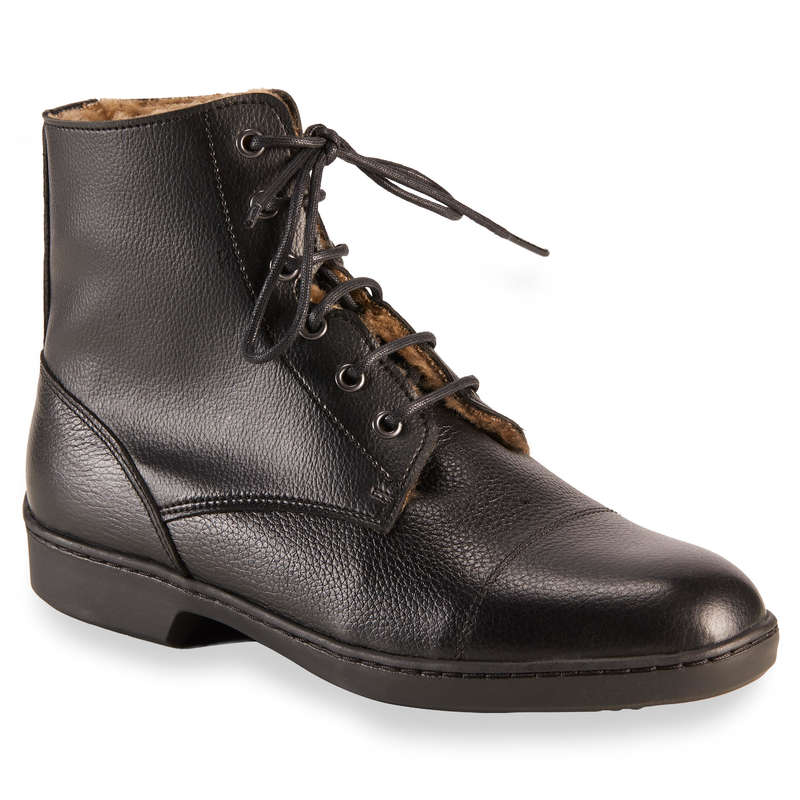 COLD WEATHER LONG RIDING BOOTS - Classic Warm Lace-Up Boots FOUGANZA