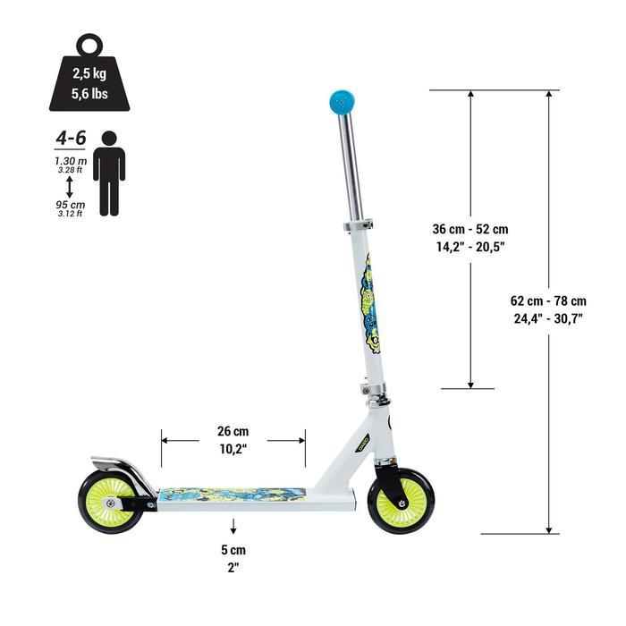 Scooter Play 3 Kinder weiß/neon