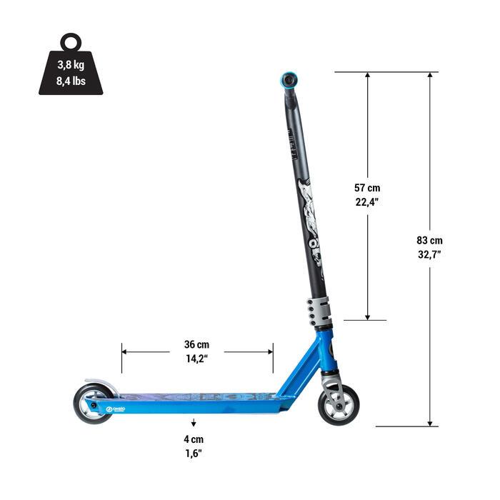 Patinete Scooter Freestyle Oxelo MF1.8+ Niño Azul Rojo