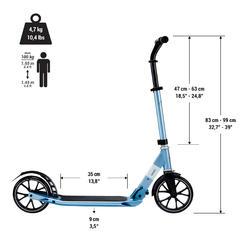Step voor volwassenen Town 5 XL blauw